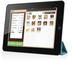 tablette tactile en caisse enregistreuse